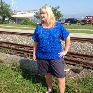 Pullover-shirt_stem-flower-blue-size-XL