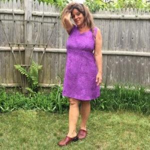 Straight-dress-dot-purple